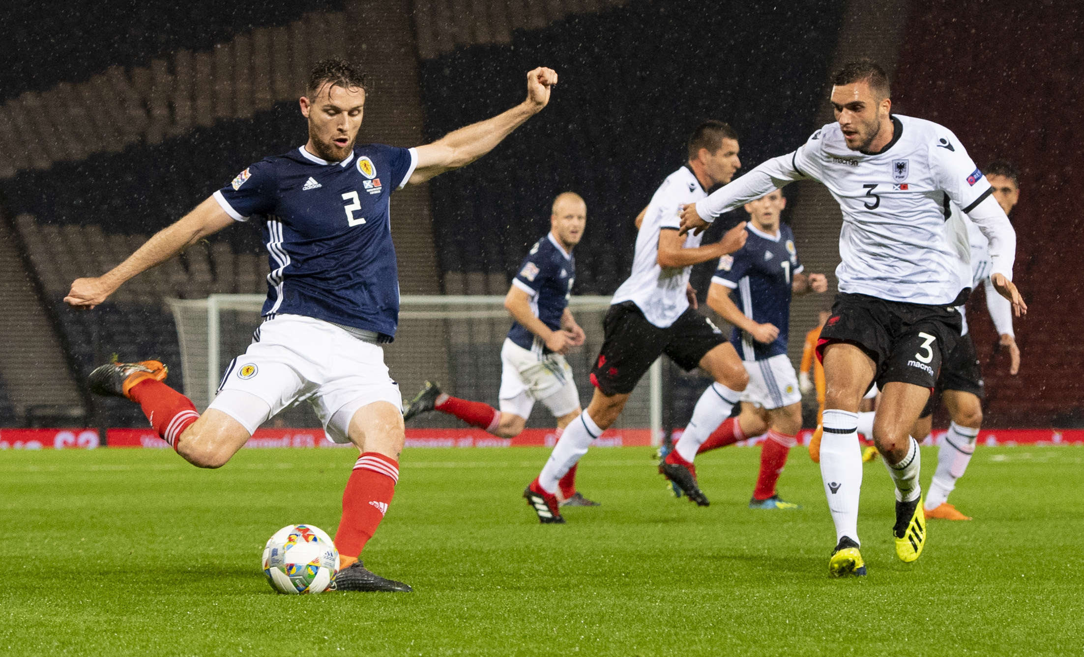 10/09/18 UEFA NATIONS LEAGUE . SCOTLAND v ALBANIA (2-0) . HAMPDEN PARK - GLASGOW. Stephen O'Donnell in action for Scotland.
