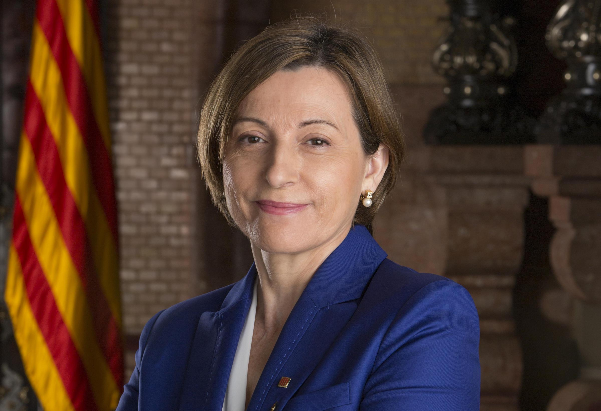 Carme Forcadell was imprisoned for allowing a debate and vote on independence