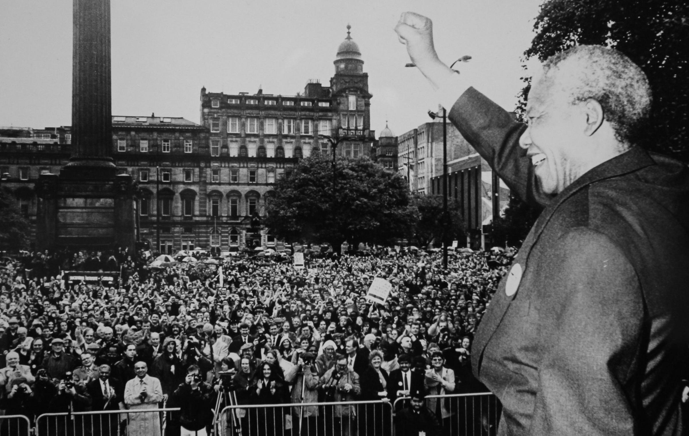 October 9 will mark 25 years since Nelson Mandela's historic trip to Glasgow