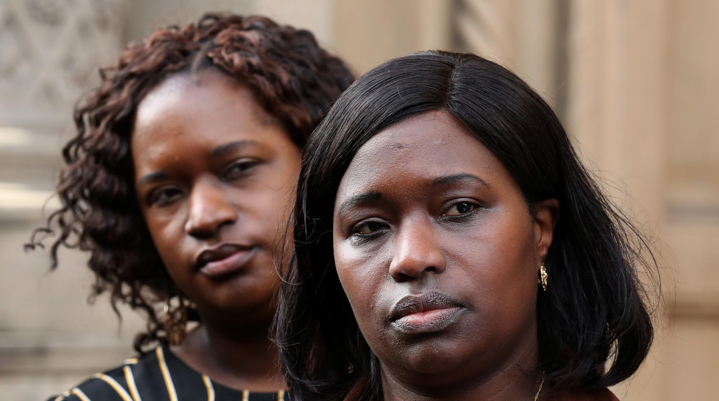 Sheku Bayoh's sisters Kadijatu Johnson, right and Adama Jalloh learned from a leak to a newspaper that no police officers would face prosecution