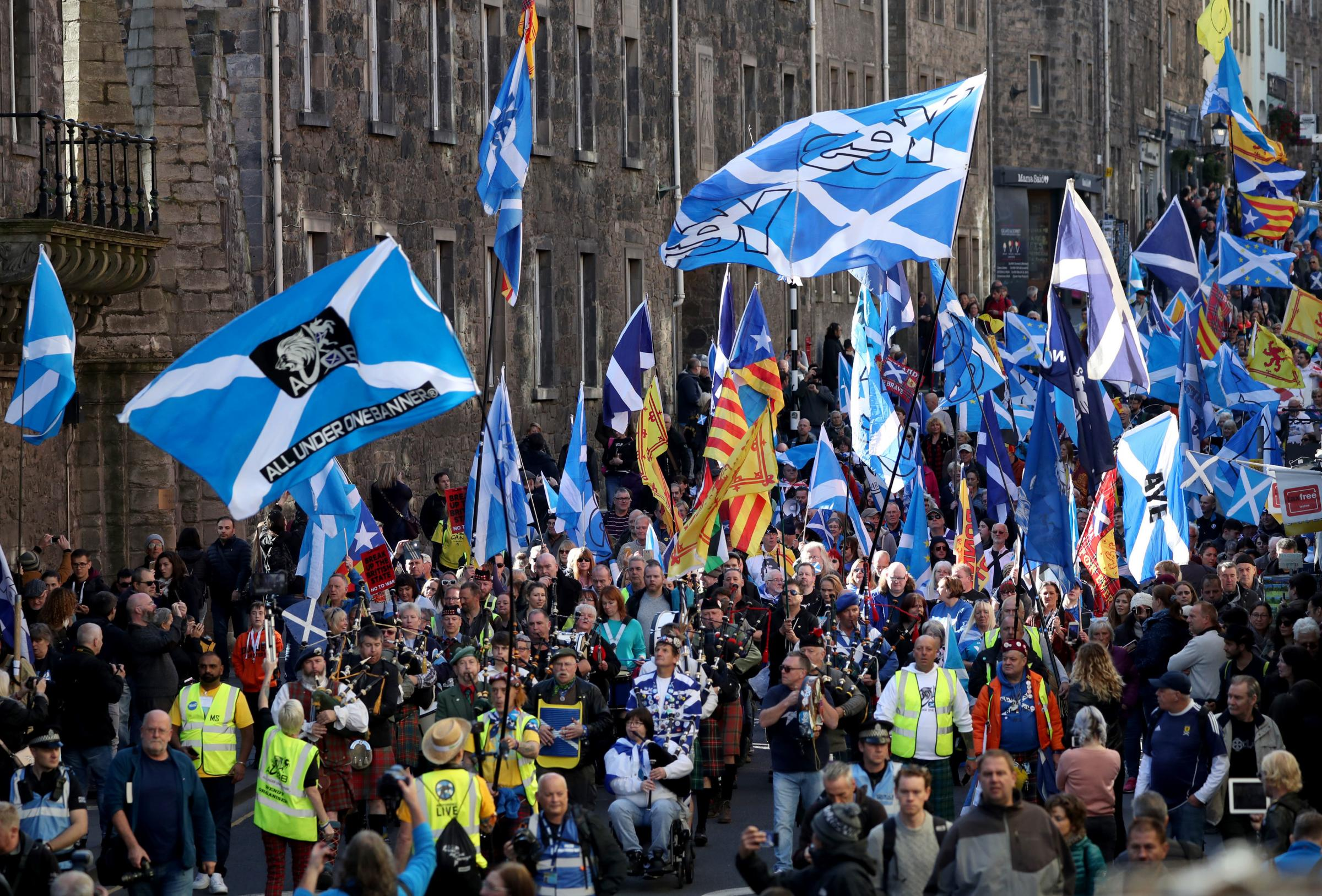 The All Under One Banner independence march in Edinburgh