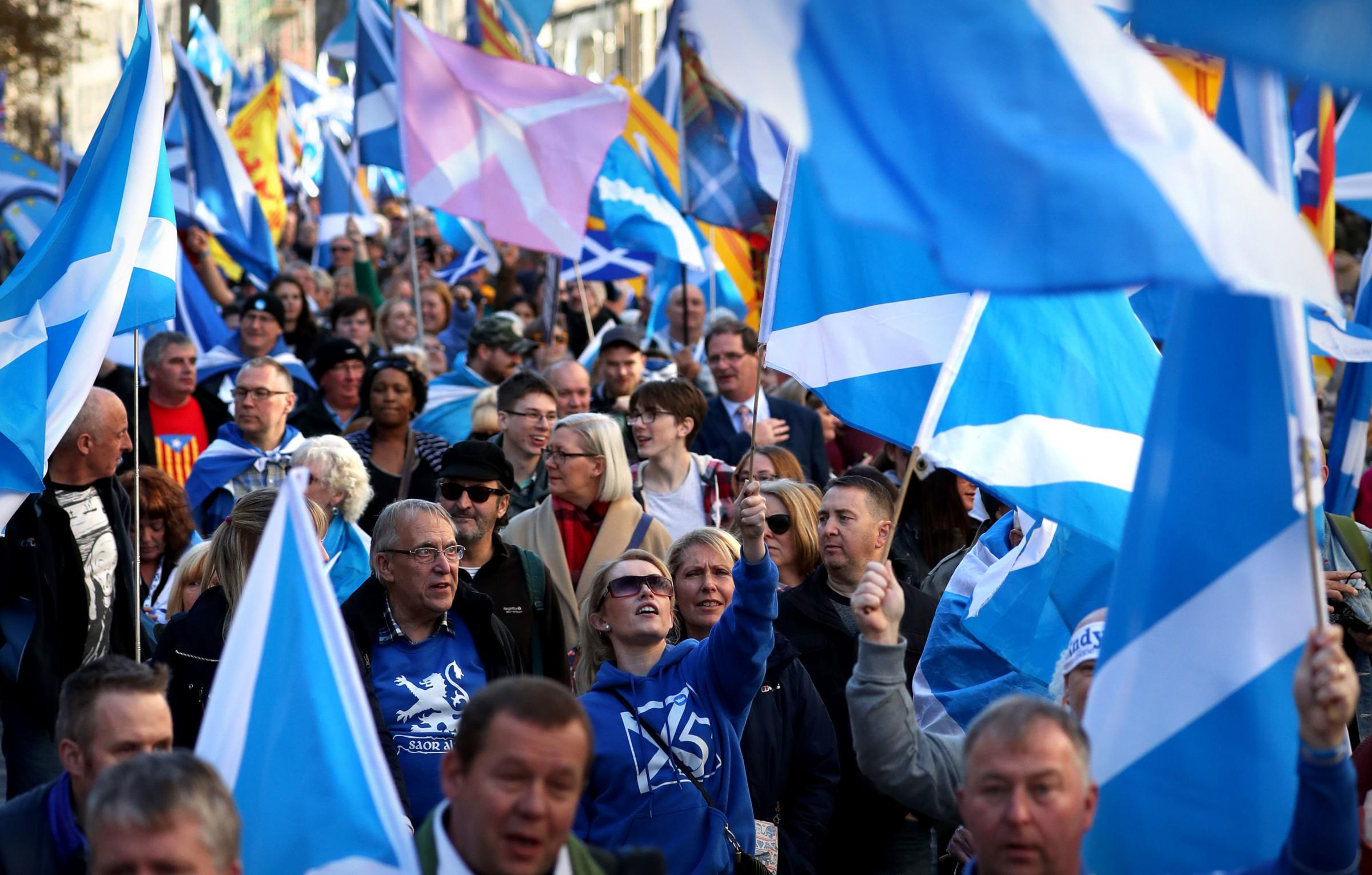 There was a joyous atmosphere in Edinburgh on Saturday