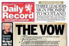 The Daily Record published the notorious 'Vow' – but also a plea from Canon Kenyon Wright for Scots to vote Yes